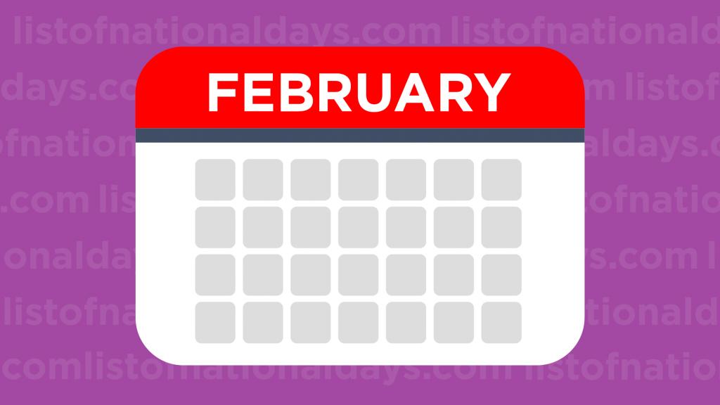 February List Of National Days