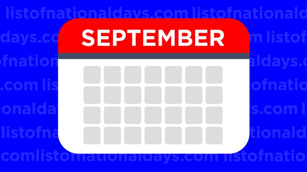 September List Of National Days