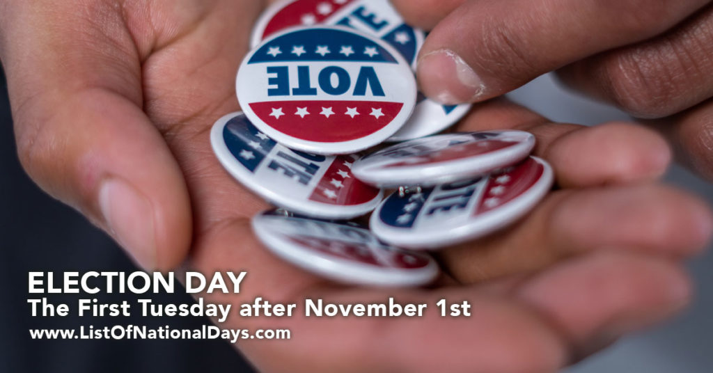Vote pins on Election Day.