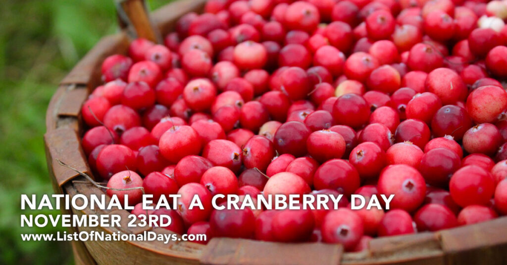 A large basketful of cranberries.