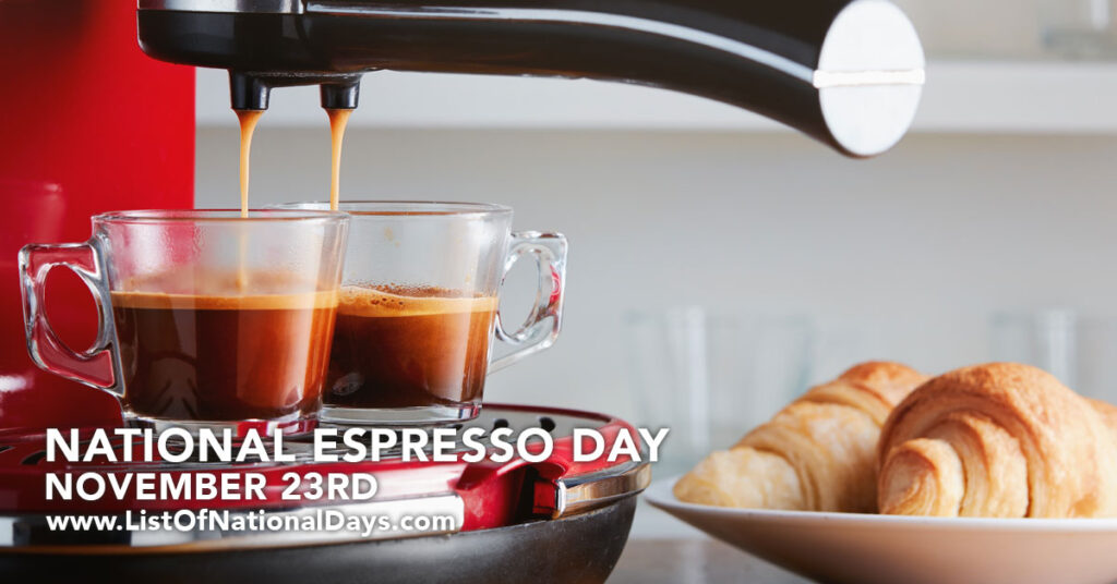 Two cups of espresso being poured from an espresso machine.