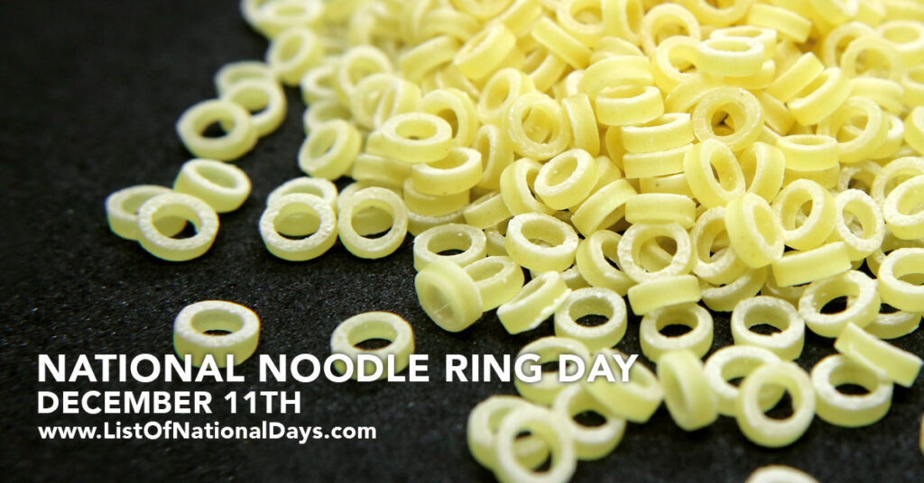 A photo of uncooked noodle rings.