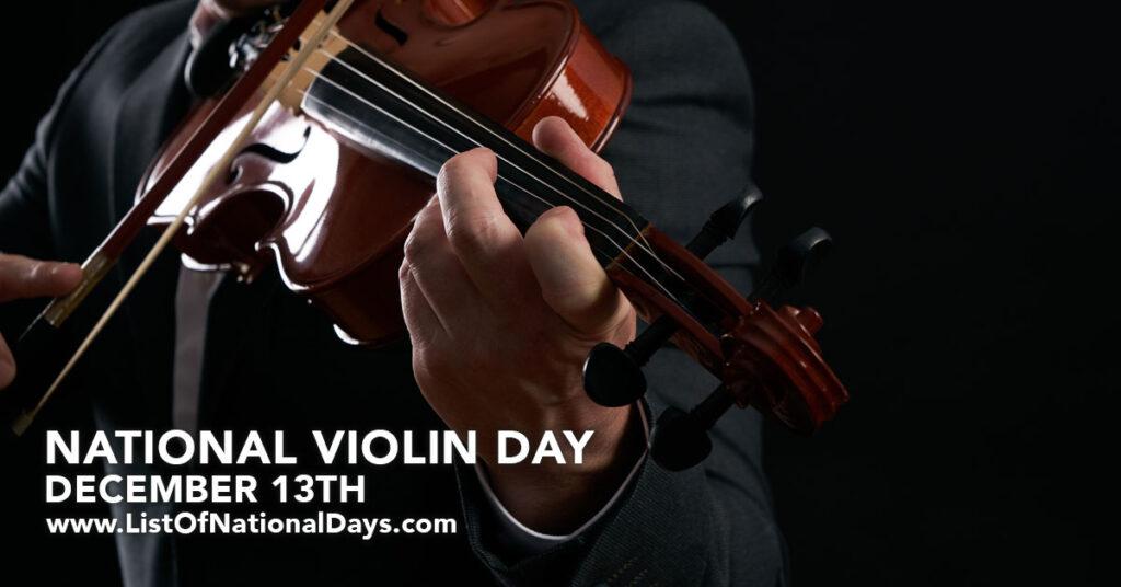 A man playing a violin.