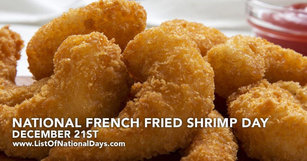 Close up of Fried Shrimp.