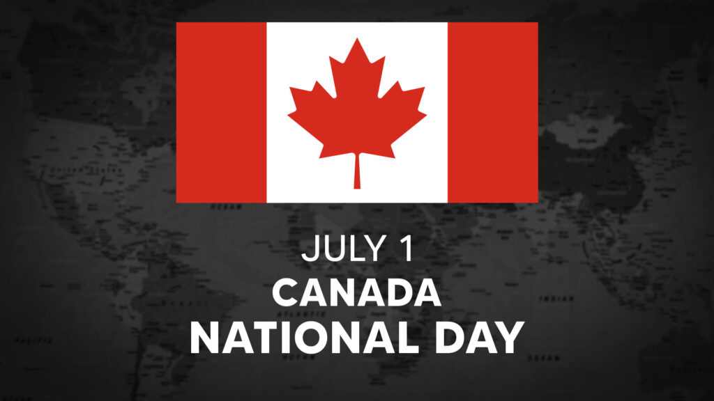 Canada's National Day is July 1st